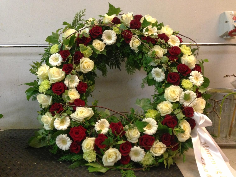 begravelse krans bånd