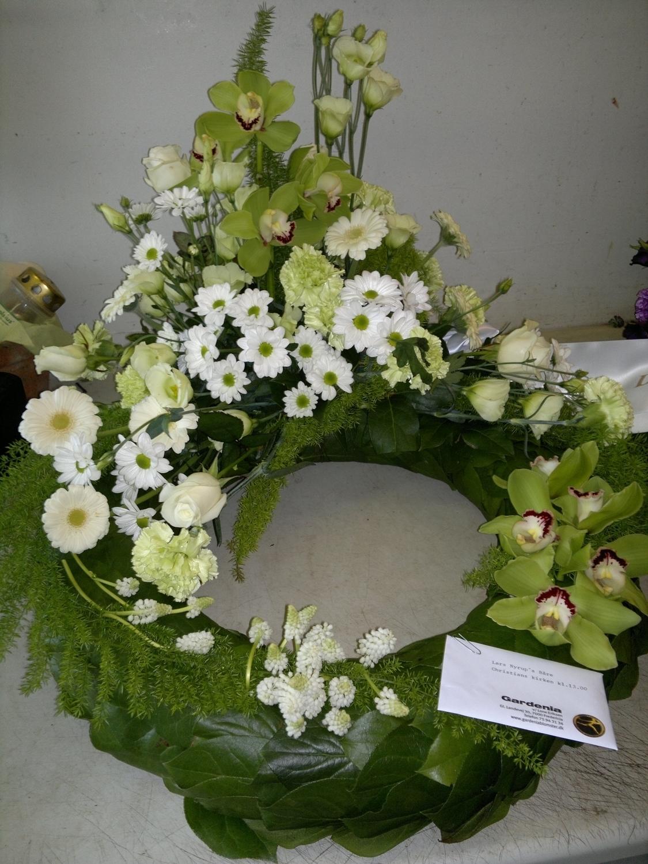 blomster begravelse bånd